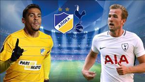 Nhận định APOEL vs Tottenham 01h45 ngày 27/9 (Champions League 2017/18)