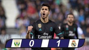 Tổng hợp: Leganes 0-1 Real Madrid (Cúp Nhà vua TBN 2017/18)