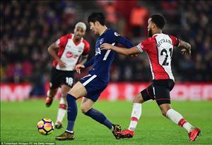 Tổng hợp: Southampton 1-1 Tottenham (Vòng 24 Premier League 2017/18)