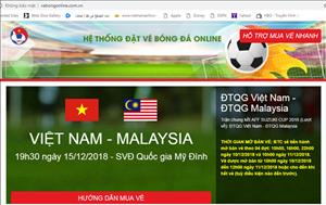 Xuat hien website gia mao ban ve online tran Viet Nam vs Malaysia