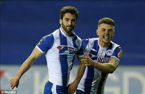 Tổng hợp: Wigan 1-0 Man City (Vòng 5 FA Cup 2017/18)