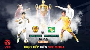 TRỰC TIẾP Quảng Nam 1-0 SLNA (H1): Thiago mở tỷ số