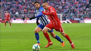 Tổng hợp: Bayern Munich 0-0 Hertha Berlin (Vòng 24 Bundesliga 2017/18)