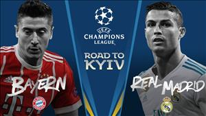 TRỰC TIẾP Bayern Munich vs Real Madrid 01h45 ngày 26/4 (Champions League 2017/18)