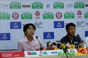 HLV Miura nói gì sau thất bại trên sân nhà trước Hải Phòng?