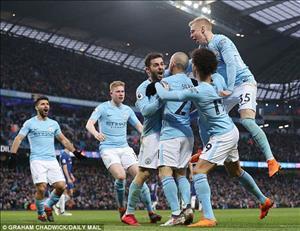 Tổng hợp: Man City 5-0 Swansea (Vòng 35 Premier League 2017/18)