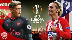 Kết quả Arsenal vs Atletico Madrid 02h05 ngày 27/4 (Europa League 2017/18)