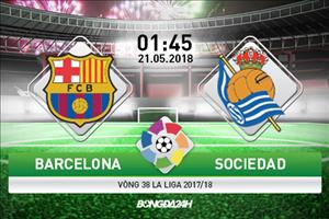 Kết quả Barca vs Sociedad trận đấu vòng 38 La Liga 2017/18