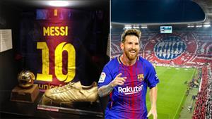 Bao tang Bayern Munich trung bay ao... Messi