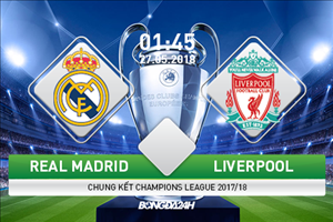 TRỰC TIẾP Real Madrid vs Liverpool 01h45 ngày 27/5 (Champions League 2017/18)