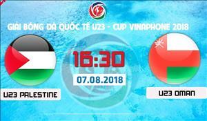 U23 Palestine 1-1 U23 Oman (KT): Bi go hoa phut chot, U23 Palestine van xep thu 2 chung cuoc o giai U23 quoc te