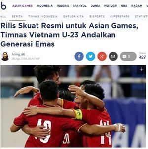 Bao Indonesia danh gia cao DT Olympic Viet Nam tai ASIAD