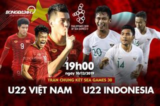Xem lại U22 Việt Nam 3-0 U22 Indonesia: Thắng thuyết phục, bóng đá Việt Nam chấm dứt cơn khát HCV SEA Games