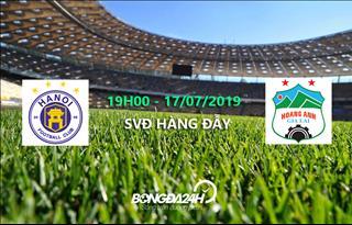 Xem trực tiếp Hà Nội vs HAGL vòng 16 V-League 2019 ở kênh sóng nào ?