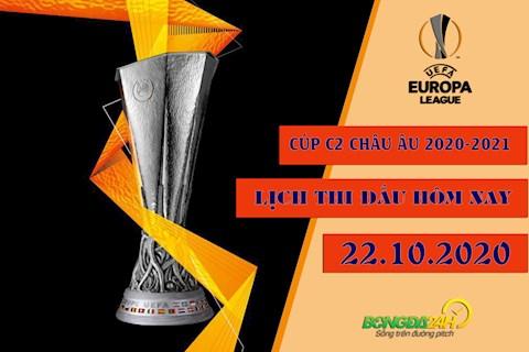 Lịch thi đấu Cúp C2 châu Âu - UEFA Europa League 2020/21 đêm nay 22/10