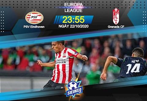 Nhận định bóng đá PSV Eindhoven vs Granada 23h55 ngày 22/10 (Europa League 2020/21)