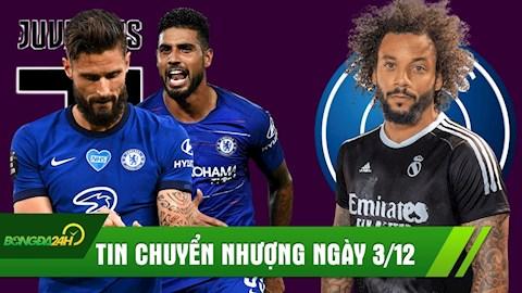 TIN CHUYỂN NHƯỢNG 3/12: Juve lấy liền 2 sao Chelsea; PSG đưa về huyền thoại Real?