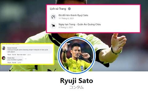 CĐV Malaysia nhận vố đau vì bị người Việt lừa vào tài khoản giả mạo trọng tài Ryuji Sato