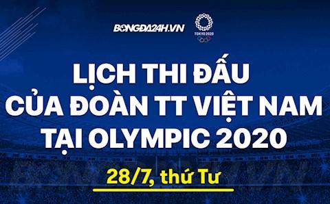 Lịch thi đấu Olympic của Việt Nam hôm nay 28/7 xem trực tiếp kênh nào?