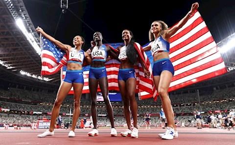 Mỹ vượt mặt Trung Quốc để về nhất Olympic 2020