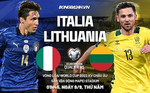 Link xem trực tiếp Italia vs Lithuania vòng loại World Cup 2022 ở đâu ?