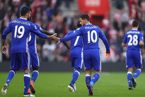 Du am Southampton 0-2 Chelsea Hay chan Costazard, neu co the! hinh anh goc