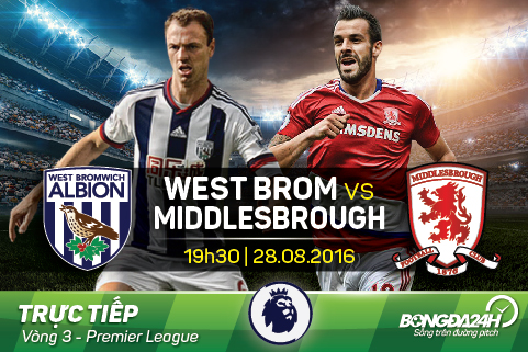 Truc tiep: West Brom - Middlesbrough