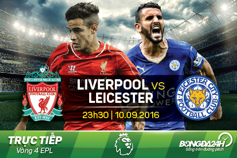 Truc tiep- Vong 4 EPL- Liver vs Leicester