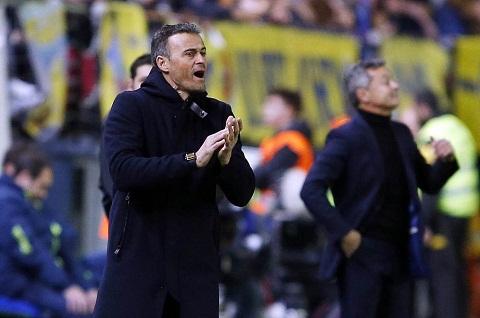 HLV Luis Enrique van bao thu du danh roi diem truoc Villarreal hinh anh goc