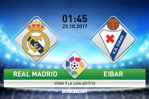 Giai ma tran dau Real Madrid vs Eibar 01h45 ngay 2310 (La Liga 201718) hinh anh goc
