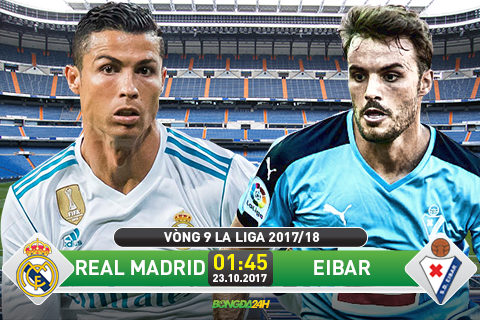Truc tiep Real Madrid vs Eibar