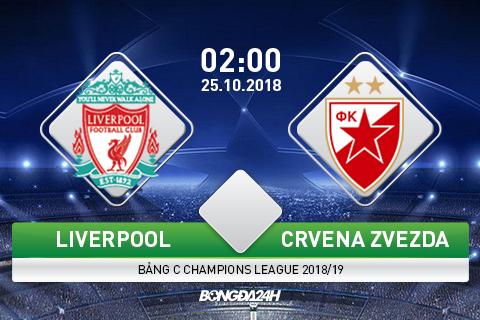 Giải mã, phân tích tỷ lệ trận đấu Liverpool vs Crvena Zvezda hình ảnh