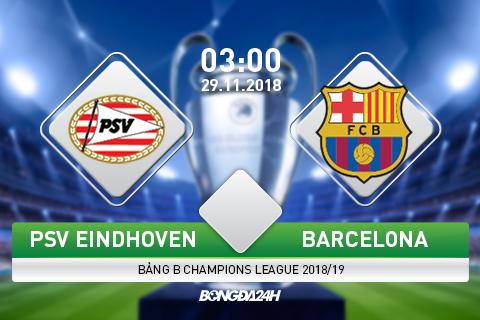 PSV Eindhoven vs Barca 3h00 ngày 2911 (Champions League 201819) hình ảnh gốc