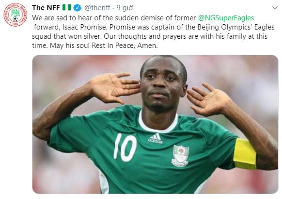 SỐC Cựu đội trường Nigeria qua đời ở tuổi 32 hình ảnh gốc 2