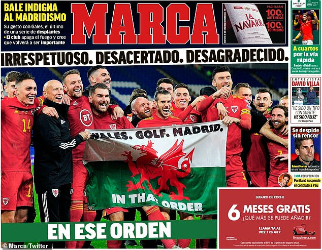 Marca chi trich hanh dong che nhao Real Madrid cua Gareth Bale