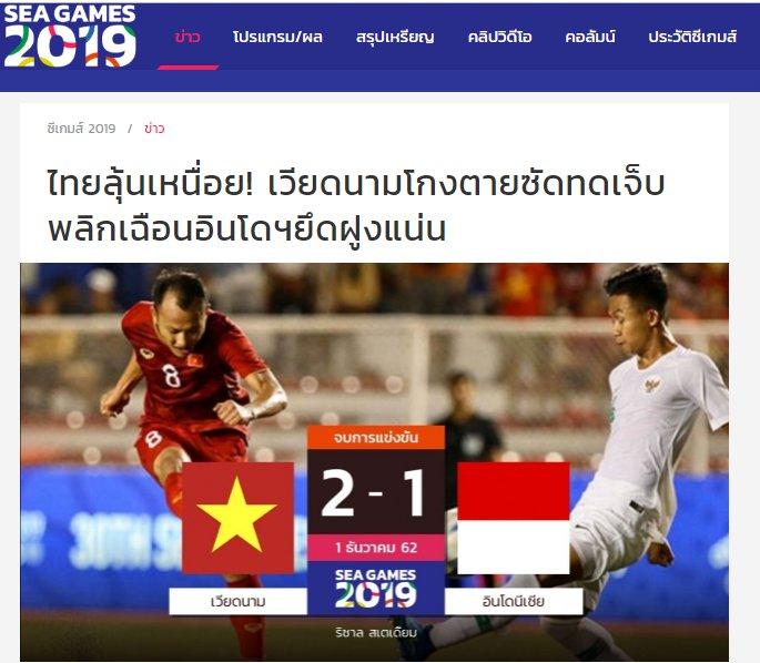 Bao Siam Sports thua nhan U22 Viet Nam co dang cap va ban linh cao hon Indonesia