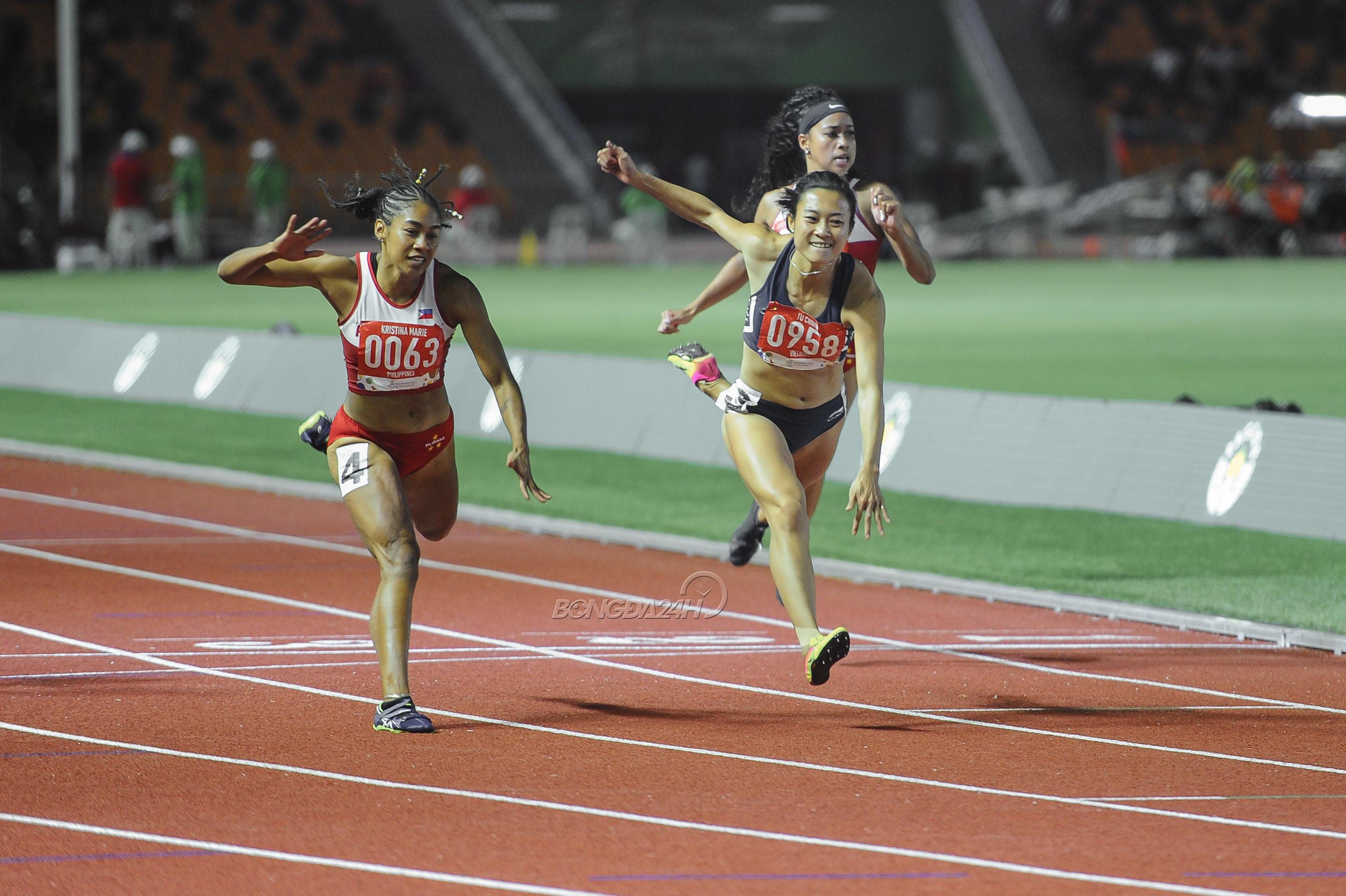 Le Tu Chinh danh bai Kristine Knott o cu ly 100m nu