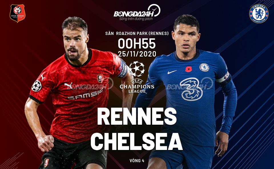 Nhận định Rennes vs Chelsea (0h55 ngày 25/11): The Blues cuốn phăng tất cả!