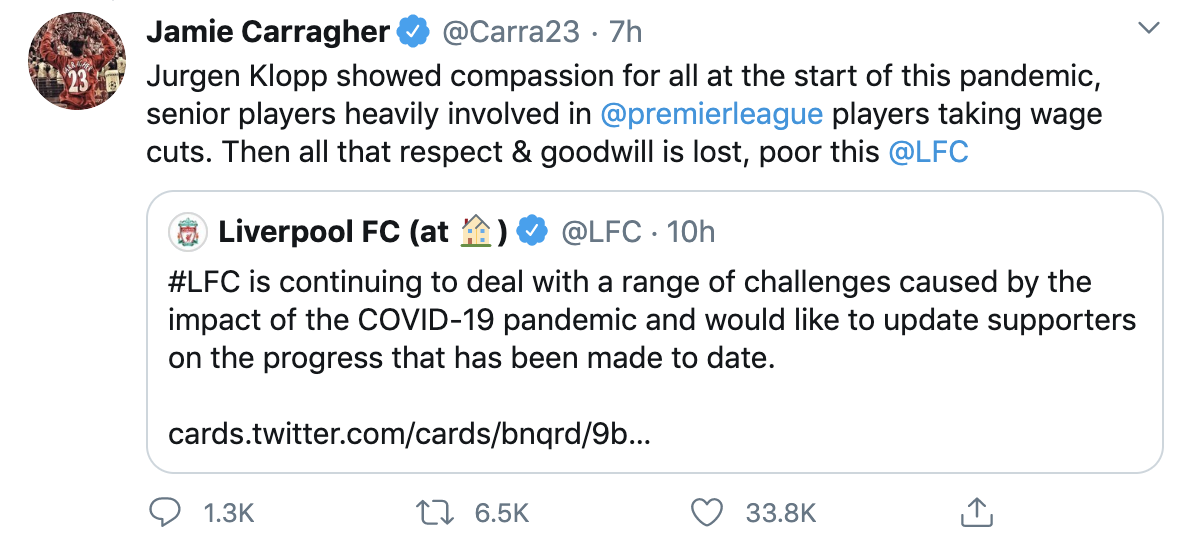 Carragher that vong voi hanh dong cua Liverpool