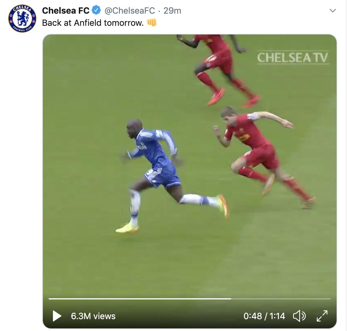 Liverpool vs Chelsea Đội khách nhắc lại cú ngã của Gerrard hình ảnh
