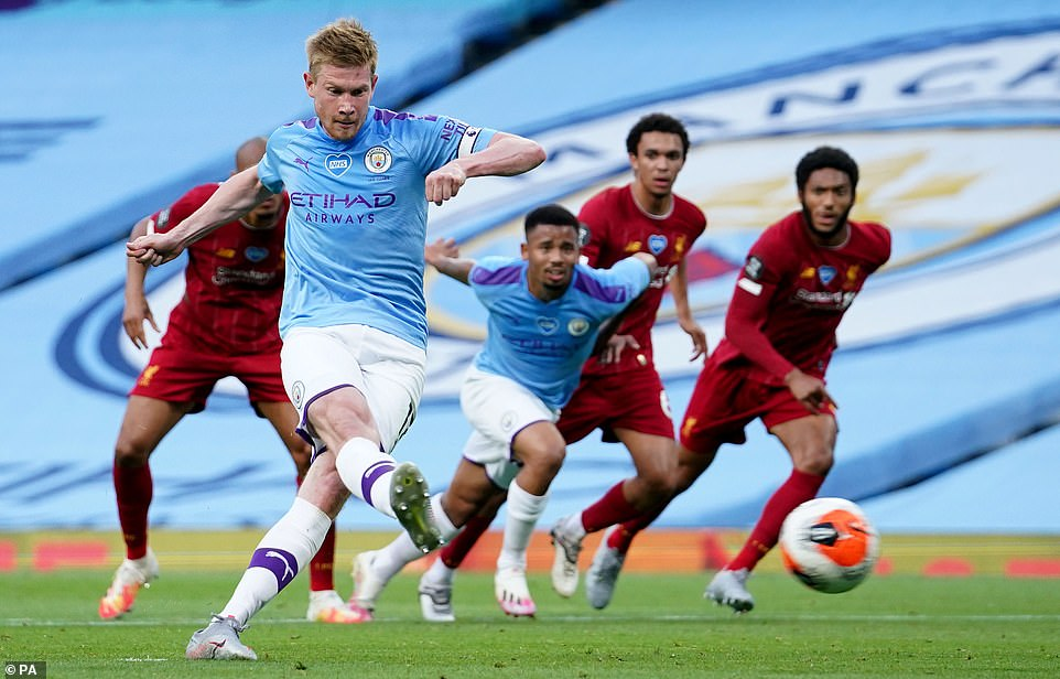 Man City 4-0 Liverpool De Bruyne