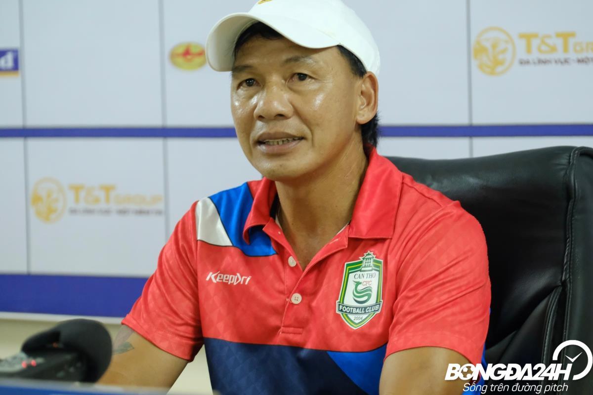 HLV Nguyễn Liêm Thanh chia sẻ sau trận thua Hà Nội vs Cần Thơ hình ảnh