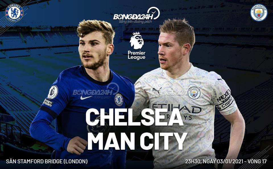 Nhận định Chelsea vs Man City vòng 17 Premier League 202021 hình ảnh