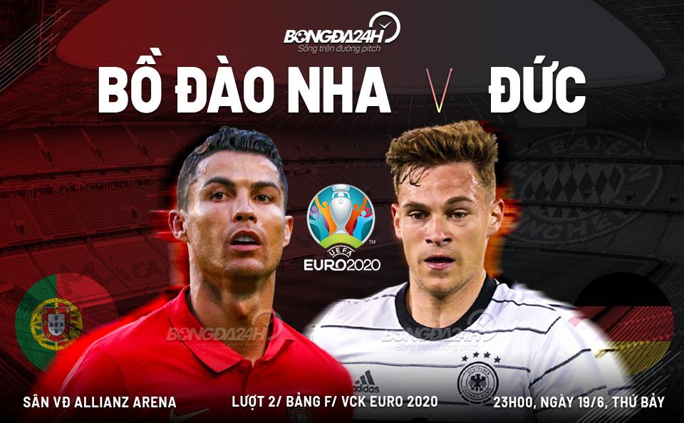 Trực tiếp Bồ Đào Nha vs Đức 23h00 ngày 19/6 (Euro 2020)