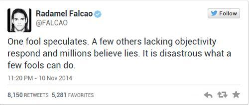 Nhung dong tweet day buc xuc cua Falcao