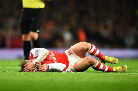Arsenal don tin buon Wilshere ngoi ngoai 3 thang vi chan thuong hinh anh
