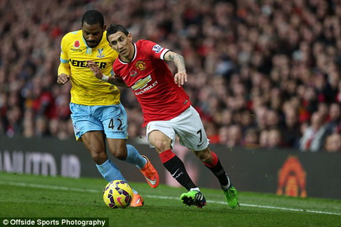 di maria manchester united crystal palace