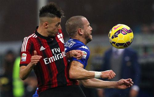 Hoa Sampdoria, Milan (trai) trai qua 4 tran khong thang tai Serie A