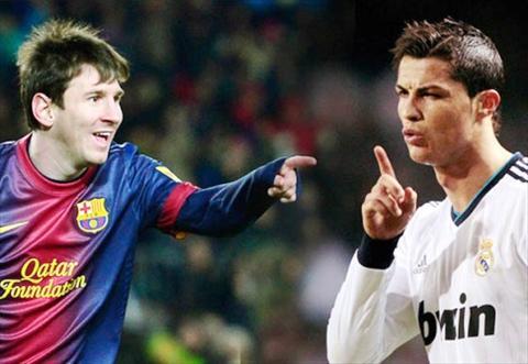 Clip bong da vui Ronado ruot duoi Messi trong cuoc dua Qua bong vang  hinh anh