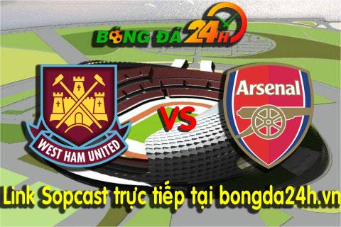 Link sopcast West Ham vs Arsenal (22h00-2812) hinh anh